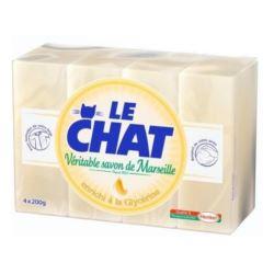 Le Chat mydło w kostce 4x200g Gliceryne (10)[F]