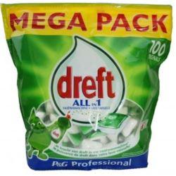 Niemieckie tabletki do zmywarki Dreft 100szt