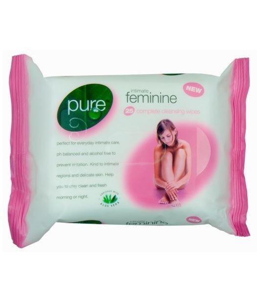 Pure chusteczki nawilżane 25szt róż Intimate(6)GB]