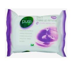 Pure chusteczki nawilżane 25szt fiol MakeUp(6)[GB]