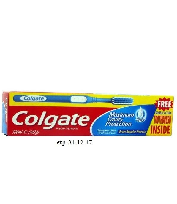 Colgate Cavity 100ml+ szczoteczka GRATIS(12)[GB,F]