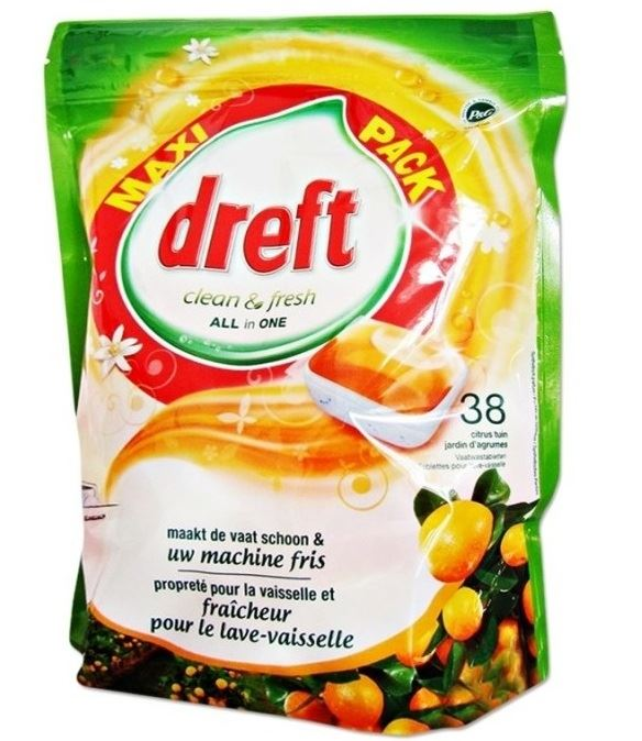 Dreft All In One kaps. do zmywarki 38szt Citrus(4)