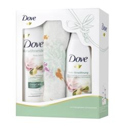 Dove zestaw balsam 400ml+ żel 250ml + szalik(8)