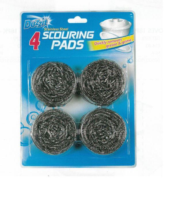 Duzzit Scouring Pads zmywaki stalowe 4szt (12)[UK]