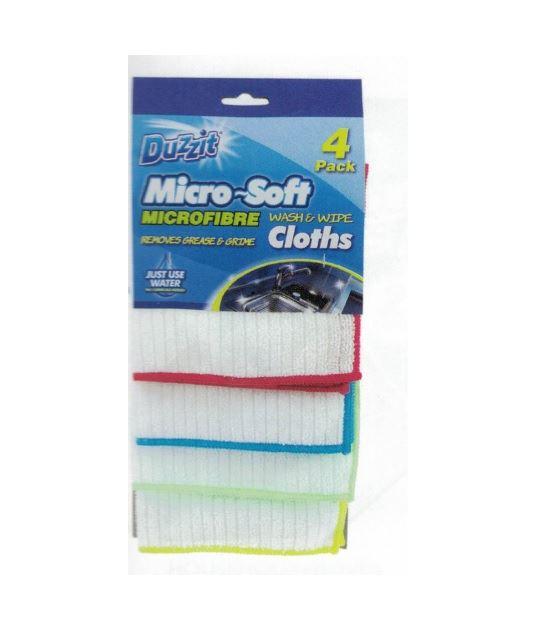 Duzzit Micro-Soft Wash& Wipe ścierki 4szt (24)[UK]