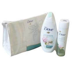 Dove Pack: kosmetyczka+ olejek150ml+ żel 250ml(40)