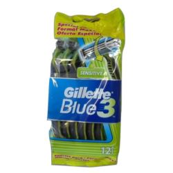 Gillette Blue3 maszynki 12szt Sensitive (20)[F,ES]