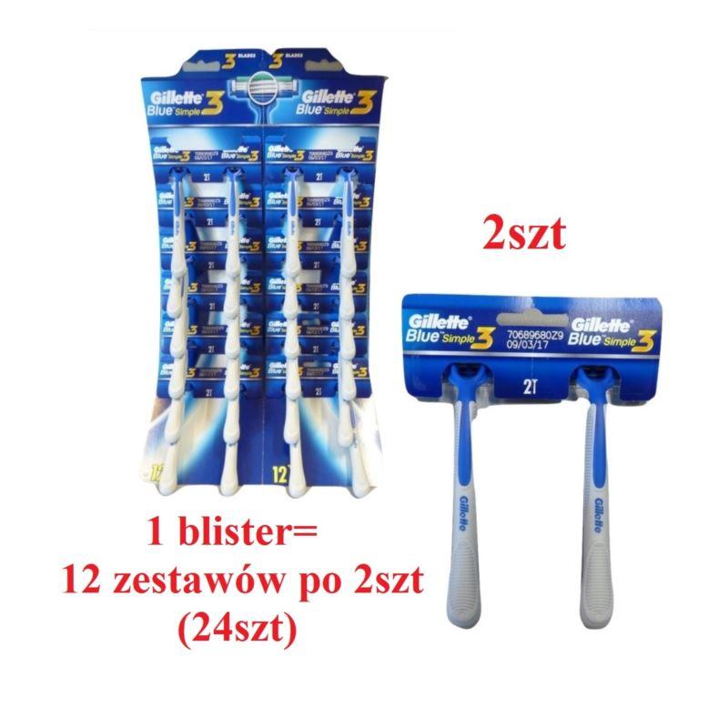 Gillette Blue3 Simple3 maszynki 2szt (12)[GB]
