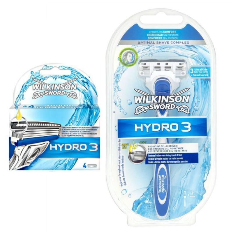 Wilkinson Hydro3 zestaw maszynka+ 4 wkłady[D]