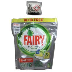Fairy/ Dreft Platinum 18+18- 36szt Lemon(5)[GB,SE]