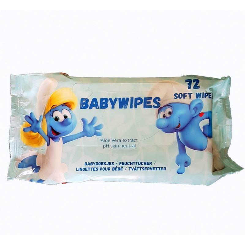 Smurf BabyWipes chusteczki dla dzieci 72szt(14)[D]