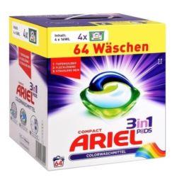 Ariel kapsułki 3w1 4x16-64szt/ 1,728g [D,AT,CH]