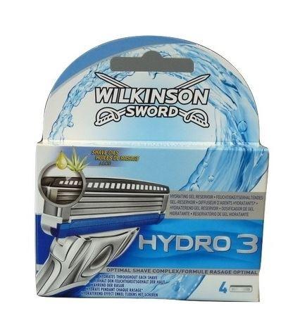 Wilkinson Hydro3 Aloes wkłady do maszynki 4szt(10)