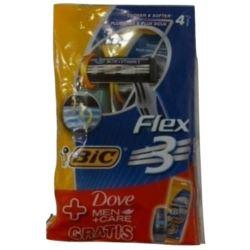 Bic maszynki do golenia Flex3 4szt+ Dove 50ml