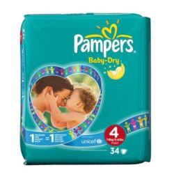 Pampers pieluszki Baby Dry 4 34szt (4)