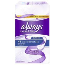 Always wkładki Twist& Flex 48szt Large [D]