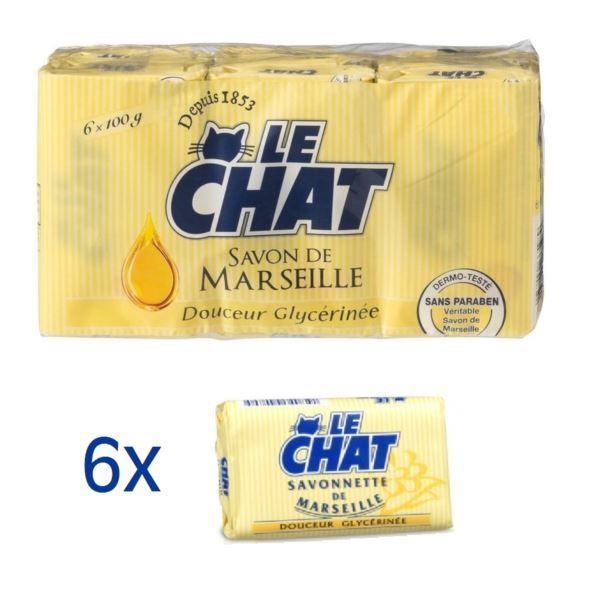 Le Chat 6x100g Gliceryne mydło w kostce (12)[F]