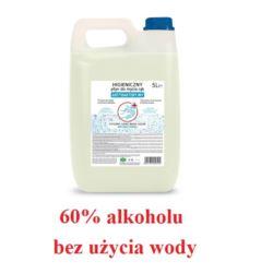 Antybakteryjny płyn do rąk 5L bez użycia wody 60%