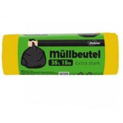 Deluxe 35l/15szt Mullbeute worki LDPE żółte(50)[D]