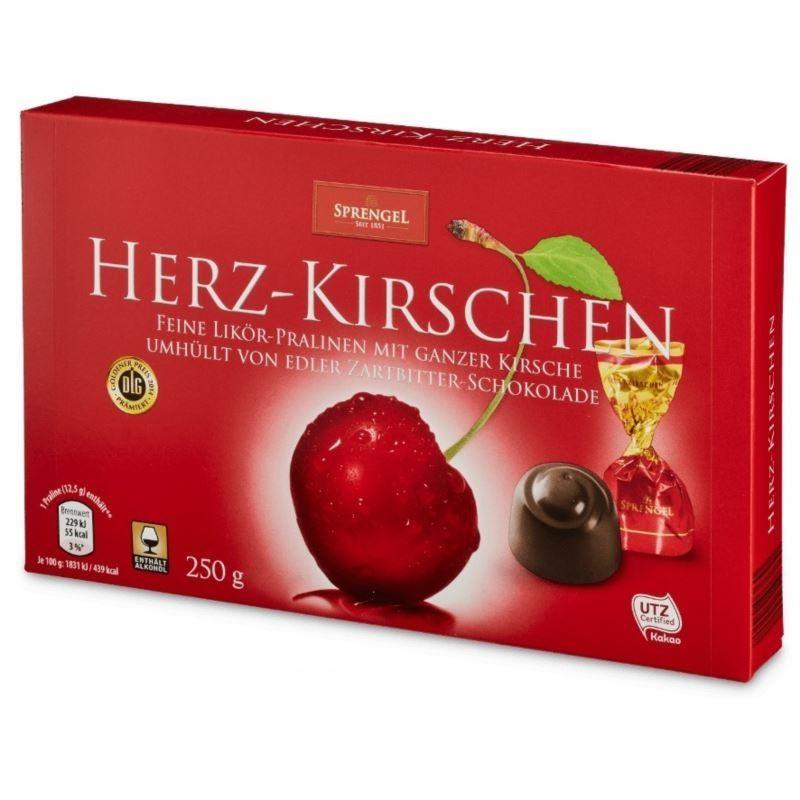 Sprengel Herz-Kirschen wiśnie w czekoladz 250g(10)