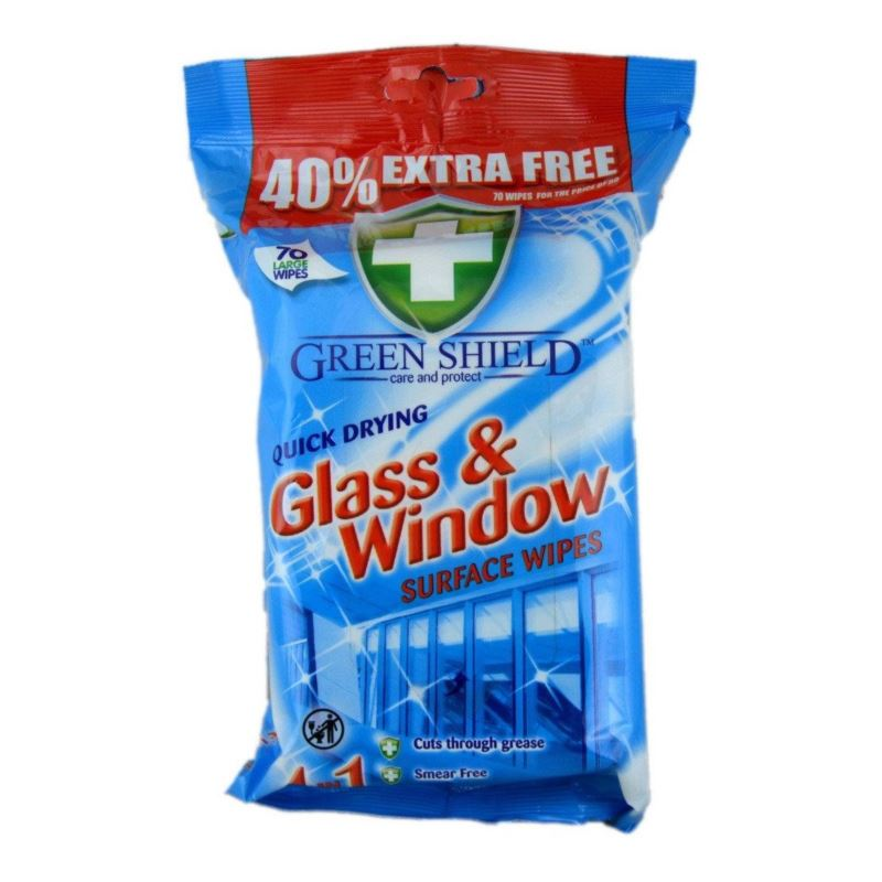 Green Shield chusteczki 70szt nieb. Glass(12)[GB]